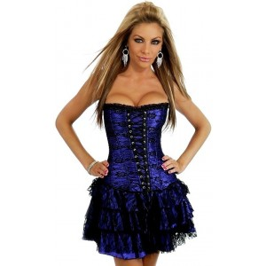 Elegant corset with skirt