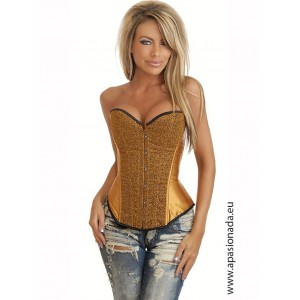 The satin corset with glitter
