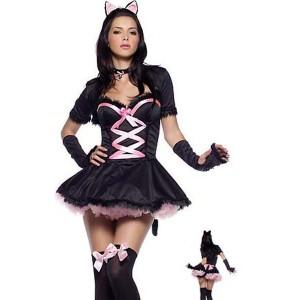 Disfraz de hermosa gatita juguetona