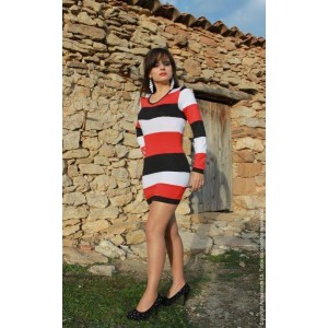 Vestido striped